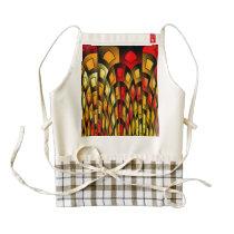 Squares pattern zazzle HEART apron