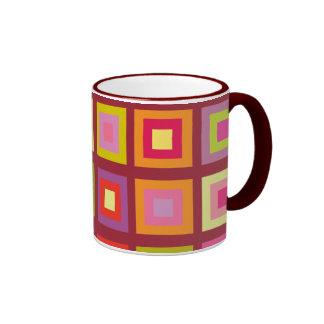 Squares Ringer Mug