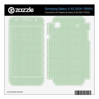 Squares Root Green Samsung Galaxy S 4G Skins