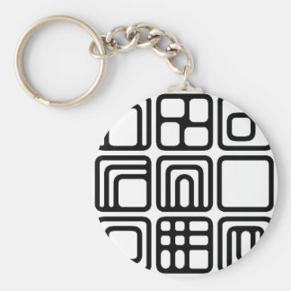 SQUARES SHAPES DIGITAL COLLECTION ASSORTMENT DECOR KEYCHAIN