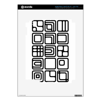 SQUARES SHAPES DIGITAL COLLECTION ASSORTMENT DECOR DECALS FOR iPad 3