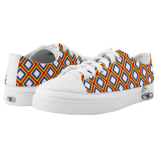 Squares Stripes Frame Rainbow Flag Colors Low-Top Sneakers