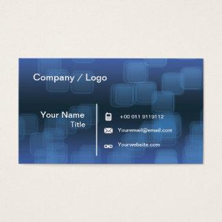squares transprent business card