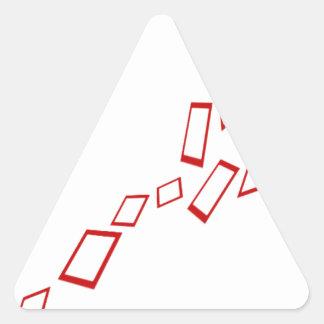 squares triangle sticker