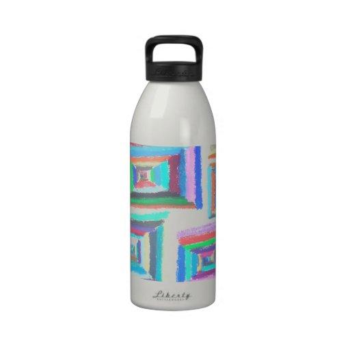 squares water bottles