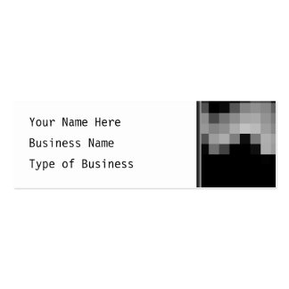 Squares Wave Abstract. Black and Gray Mini Business Card