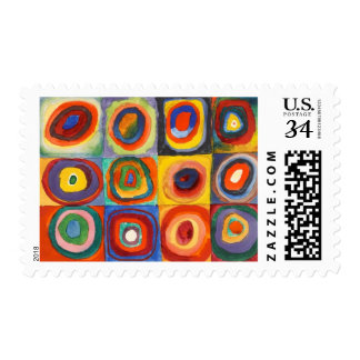 Squares with Concentric Circles by Kandinsky Postage