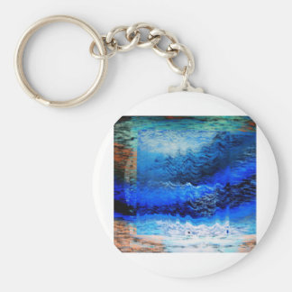 squaring the waves keychain
