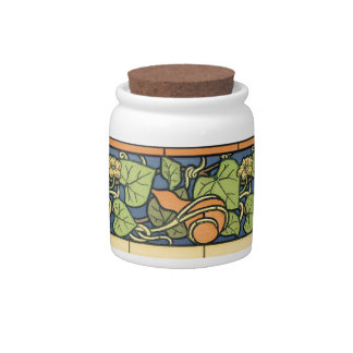Squash and Blossom Candy Jar
