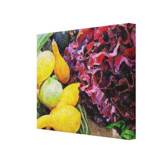 Squash and Lettuce Canvas Print