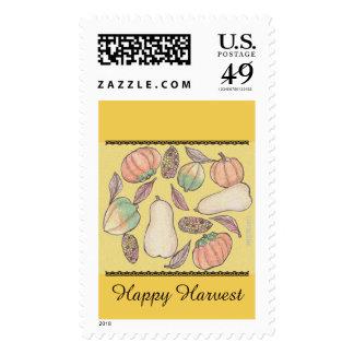 Squash Bounty Mabon Harvest Home Equinox Yellow Postage