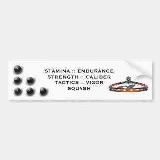 Squash Bumper Sticker