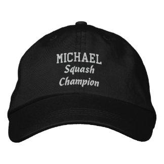 Squash Champion Custom Name V07H Embroidered Baseball Hat