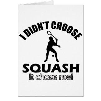 squash design card