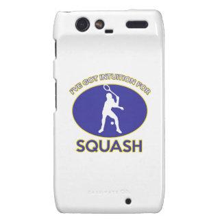 squash design motorola droid RAZR cover
