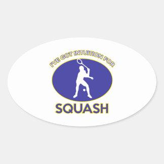 squash design oval sticker