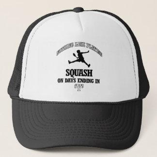squash designs trucker hat