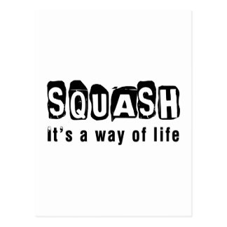 Squash It s a way of life Postcards