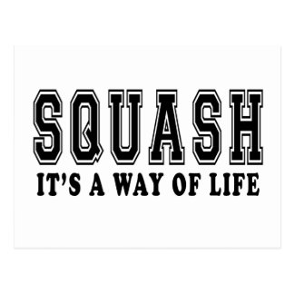 Squash It s way of life Post Card