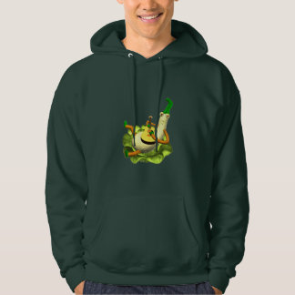 Squash on lettuce bed playing guitar hoodie