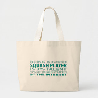 Squash Player 3% Talent Tote Bags