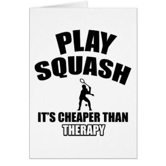 Squash player designs card
