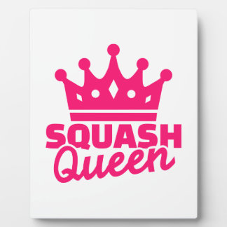 Squash Queen Photo Plaque