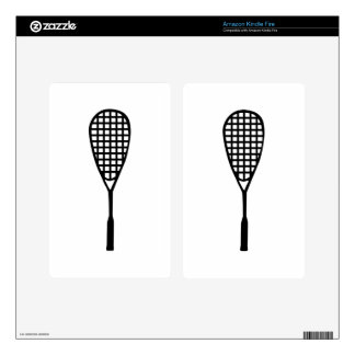 Squash racket decal for kindle fire