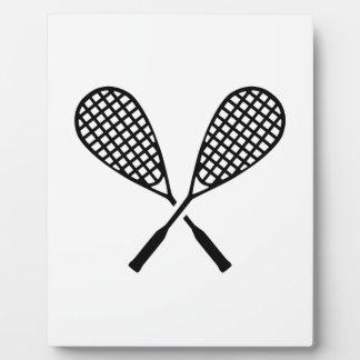 Squash rackets plaques