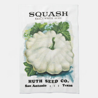 Squash Seed Packet Label Towel