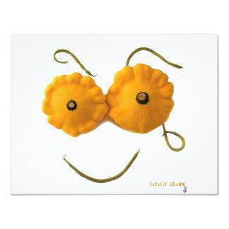 Squash Smiley Face 4.25x5.5 Paper Invitation Card