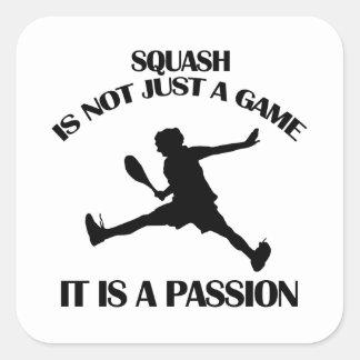 Squash  sports designs square sticker