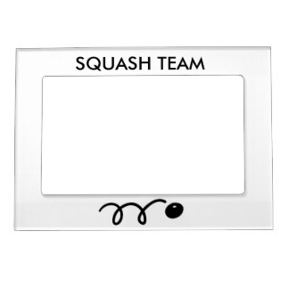 Squash team picture frame magnet for photos