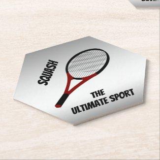 Squash the Ultimate Sport Sturdy Paper Coasters