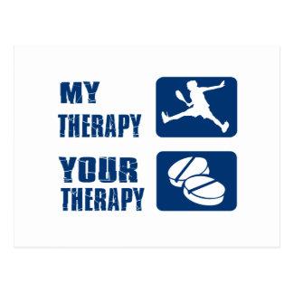 Squash therapy designs postcard