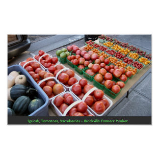Squash,Tomatoes,Strawberries - Brockville Farmers' Print