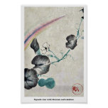 Squash vine with blossom and rainbow print