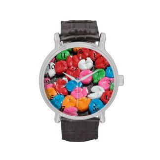 Squashed bubble gum watches