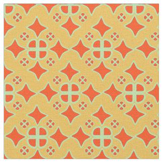 Squashed Diamond Quatrafoil repeat pattern fabric