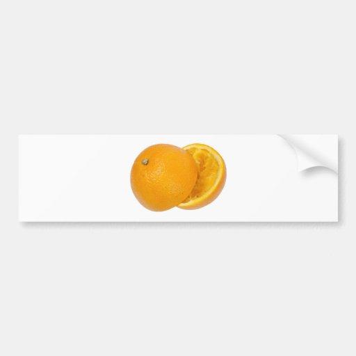 Squashed orange bumper stickers