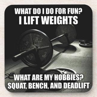 Squat, Bench, Deadlift - Powerlifting Motivational Beverage Coaster