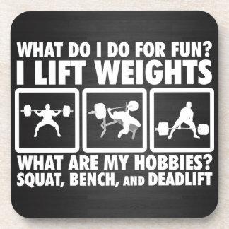 Squat, Bench, Deadlift - Powerlifting Motivational Coaster