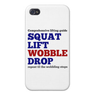 Squat lift wobble drop. Gym motivation iPhone 4 Cover