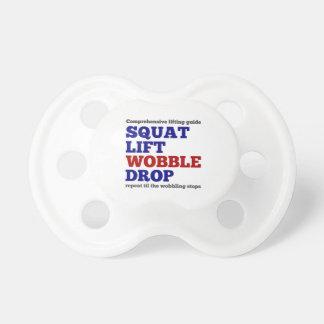 Squat lift wobble drop. Gym motivation Pacifier