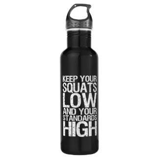 Squat Low - Bodybuilding Workout Motivational Water Bottle