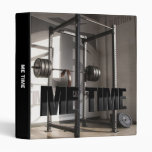Squat Rack Workout Motivation - Me Time - Gym 3 Ring Binder