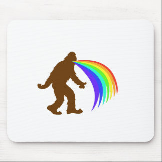 Squatch Barfing A Rainbow Mouse Pad