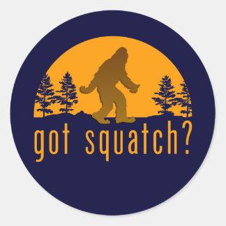 ¿Squatch conseguido? Pegatina Redonda
