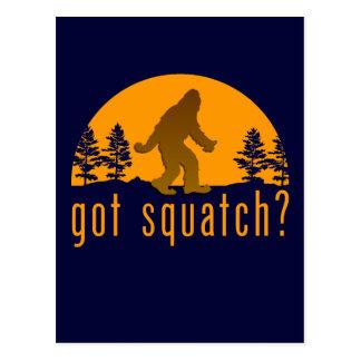 ¿Squatch conseguido? Postal