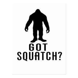 Squatch conseguido tarjeta postal